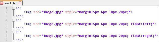 Отступ в html