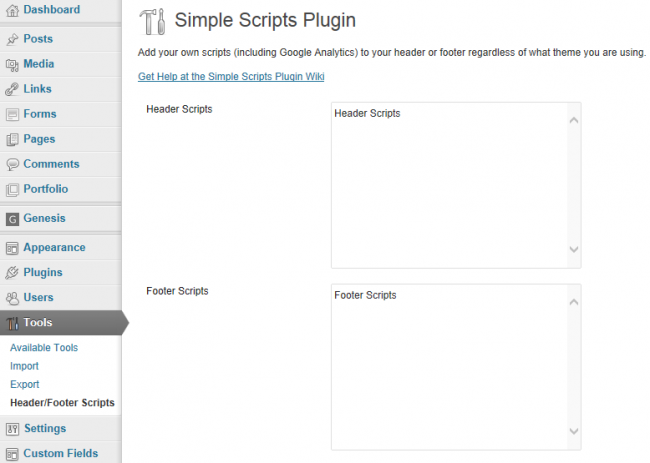 Wp register script
