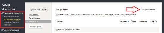 Позиция сайта по запросу