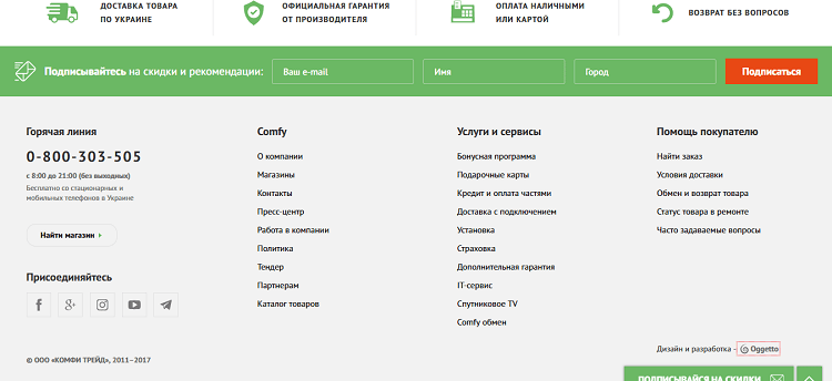 Что такое футер сайта