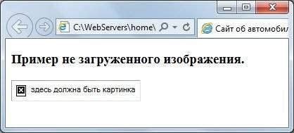 Вставить картинку html