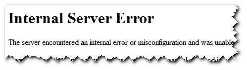 500 internal server error что это