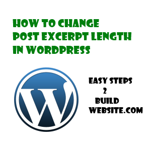 change post excerpt length in wordpress