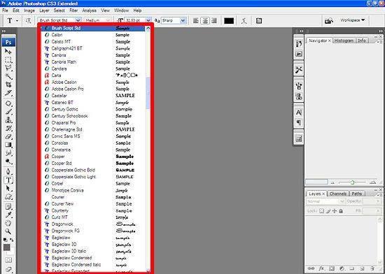 Как загрузить шрифт в фотошоп