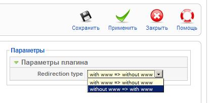 Редирект с www