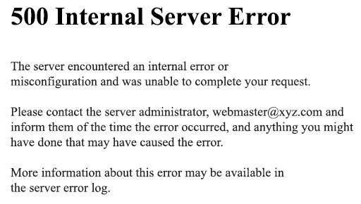 500 internal error server youtube