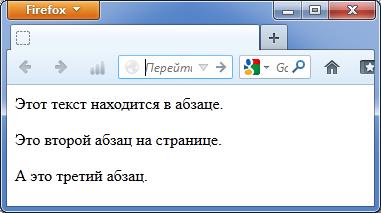Тег p html