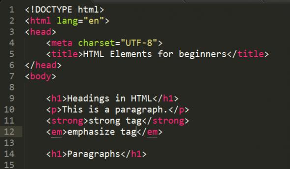 Как сделать абзац в html