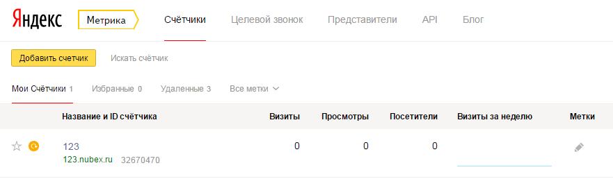 Счетчик просмотров сайта