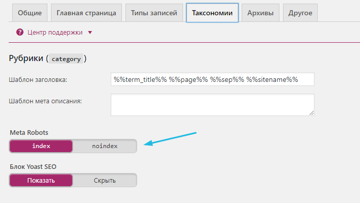 Таксономия wordpress