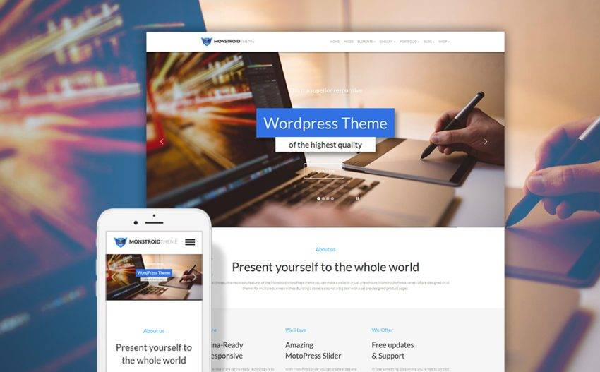 Монстроид WordPress тема
