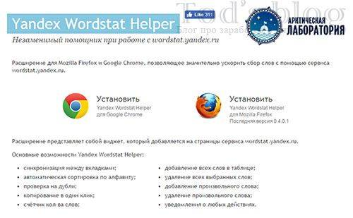 Скрипт Yandex Wordstat Helper