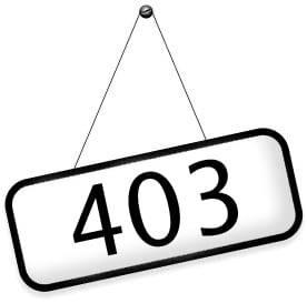 Как убрать ошибку 403