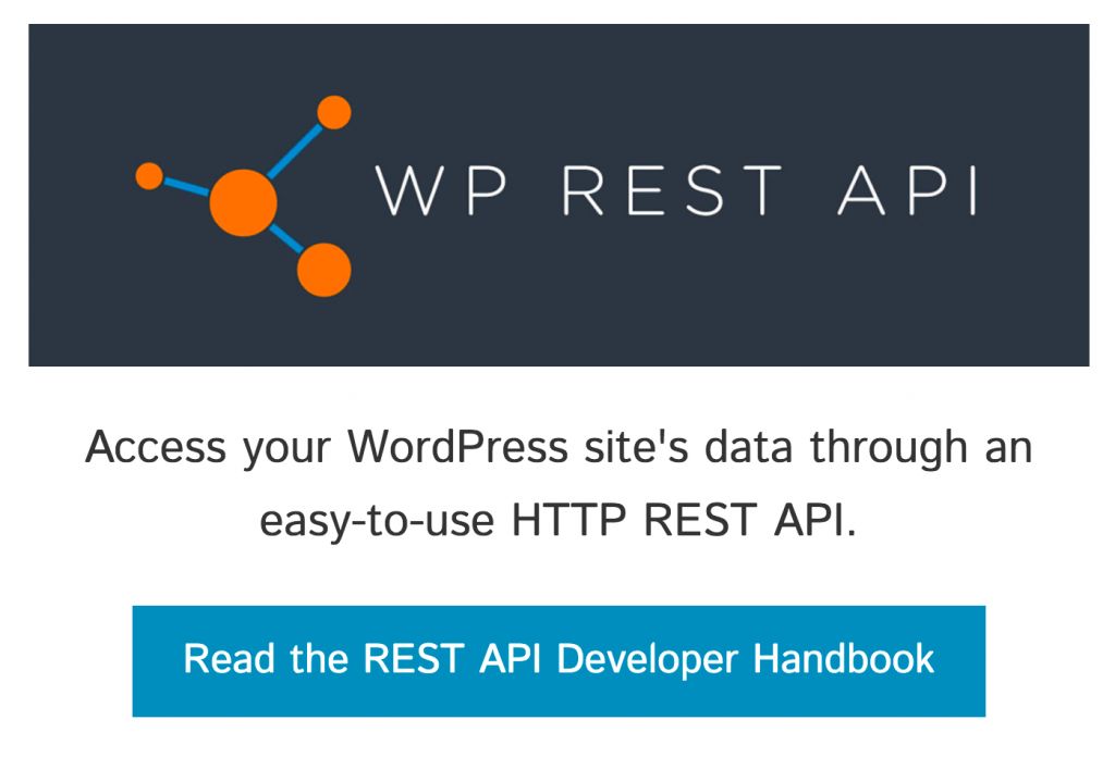WP REST API домашняя страница проекта