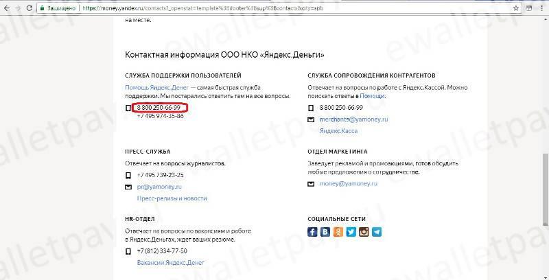 Яндекс обратная связь