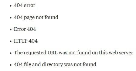 404 not found что это такое